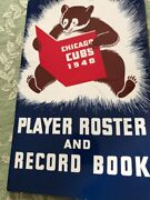 Vintage 1940 Chicago Cubs Player Roster And Record Book Media Guide