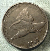 1857 Flying Eagle Penny Xf+ Choice Extra Fine A+ Feather Detail 1st Small Cent