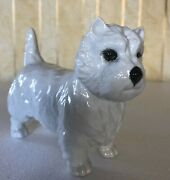 Beswick Dog West Highland White Terrier Model No. 2038 White Gloss Perfect