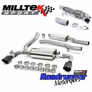 Milltek Focus Rs Mk3 Full Exhaust System And Sport Cat Downpipe 3 Resonated Black