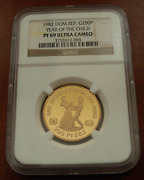 Dominican Republic 1982 Gold 200 Pesos Ngc Pf69uc Year Of The Child