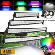 52/50/42/32/22/14 Inch Curved 5d Rgb Led Light Driving Bar And Wiring Harness Kits