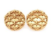 18k Yellow Gold Round Rope Bamboo Cable Woven Love Knot Cufflinks Cuff Link