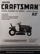 Sears Craftsman 19.5 Hp Lawn Tractor 917.259567 And 42 Mower Owner And Parts Manual