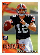 2010 Topps 194a Colt Mccoy Rc/wearing Helmet Empty Stands -buy 10 - Free S/h