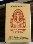 Rare Vintage Matchbook Box Canfield's Olde Tyme Eatery Bell Gardens California