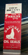 Vintage Matchbook Cover A2 Los Angeles California 1961 National Oil Seals Show