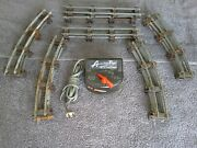 American Flyer S Gauge 18 Piece Train Transformer 1½ Curved Straight Track Lot