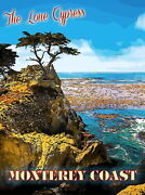 98069 The Lone Cypress Monterey California United Decor Laminated Poster Us