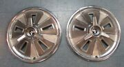 1966 Mustang Original/used 14 Inch Wheel Covers W. Spinners