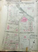 1923 Pittsburgh Pa Shady Side Academy And Station Pitcairn Estate Atlas Map