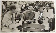 1940s Rare Vintage Babe Ruth 5 1/2 X 9 Photo- W/ Young Ball Players Vg/exc