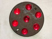 Early Red Glass Marble Persons Reflector Vintage Old Truck Bus Van Semi Car 2
