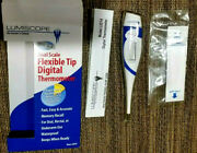 Thermometer With Flexible Tip.lumiscope Digital Lcd Medical Clinical 10 Sec Read