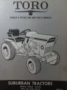 Toro 12 H.p Suburban Riding Lawn Garden Tractor Owner And Parts Manual 55301 55401