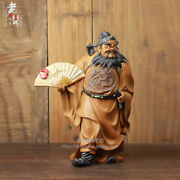 Old Chinese Ceramics Porcelain Dragon Robe Zhong Kui The Ghost Buster God Statue