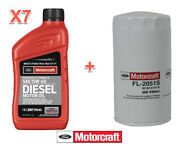 7 Qts Diesel Engine Motor Oil And Filter Ford Motorcraft Sae15w-40 Fl-2051s S Duty