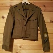 Vtg Wwii Us Army 9th Air Force Air Corp Ike Wool Jacket 36r Enlisted Military