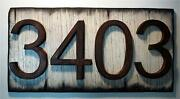 Custom Address Plaque Rustic House Address Sign Rubbed Bronze Numbers On Wood