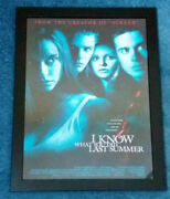 Framed I Know What You Did Last Summer 1997 Movie Poster - Horror Memorabilia