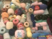 Large Lot Of Crochet Knitting Yarn And More Some Used Off Of Others Never Used