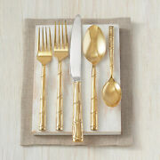 New Wallace Bamboo Gold-plated 20-piece Stainless Steel Flatware Set, Serves 4