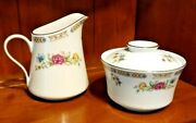 Liling Fine China Ling Rose Sugar Bowl And Creamer - Multicolor Floral -yung Shen