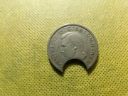 Great Britain 1948 Half Crown Knocked Defect  A793dxx