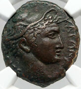 Katane In Scily Authentic Ancient Rare R1 Greek Coin Hermes Nike Ngc I83544