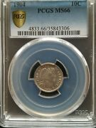 1904 Barber Dime Pcgs Ms66 Pcgs Population 10 Only 5 Grade Higher