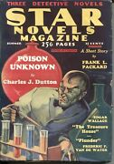 Star Novels Magazine 6-1933-weird Menace-crime-mystery-terror-new Collection