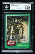 1977 Topps Star Wars 207.2 Bas Certified Encased Auto Ow6