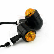 Black Bullet Motorcycle Micro Led Indicators Turn Signals Cafe Racer Blinkers