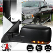 [left] Driver Side Power+heated Foldable Replacement Mirror For 09-16 Ram 1500