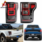 Full Led Fiber Optic Assembly Tail Lights Fit For 2015-2019 Ford F150 Clear Lens