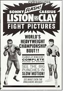 Cassius Clay Muhammad Ali Sonny Liston Vintage Boxing Poster W/rare Plate