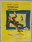 Hitchcock's North By Northwest Original Vintage Movie Poster Vry Rare Cary Grant