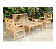 Teak Outdoor Wooden Armchair Table Or Bench Patio Garden Yard Deck Mix And Match