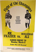 Joe Frazier Cassius Clay Vintage Boxing Poster Muhammad Ali March 8 1971