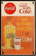 Coca-cola Hot Buttered Popcorn 60s Posters And Lobby Displays