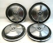 Set Four 4 15 1970and039s 1980and039s Ford Motor Company Wheel Covers Truck Van