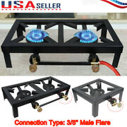 Portable Burner Cast Iron Propane Lpg Gas Stove Outdoor Camping Cooker Bbq