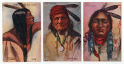 Tammen Native American Indian 1908 Postcards Chiefs Geronimo Sitting Bull More