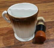 Vintage Rubberset 203 Shaving Brush With Shaving Cup