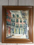 Framed Original Watercolor Painting Signed By Artist F. Cooper 8x10 1962