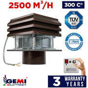 Chimney Fan For Fireplace Barbecue Exhaust Fan For Round Flue 25cm/ 10 110 Volt