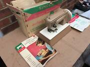 Vintage Singer Sewhandy Sewing Machine Model 40k With Bookletsmanuals,