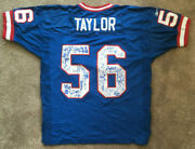 1986 Ny Giants Team Signed Jersey 45 Auto Lawrence Taylor Carl Banks Steiner Coa