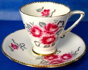 Antique Royal Stafford Cameo Rose Hand Painted Cup And Saucer 1930s