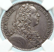 1738 France King Louis Xv Sacrafice Altar Jewish French Silver Medal Ngc I83694